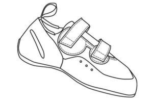 neo velcro climbing shoe