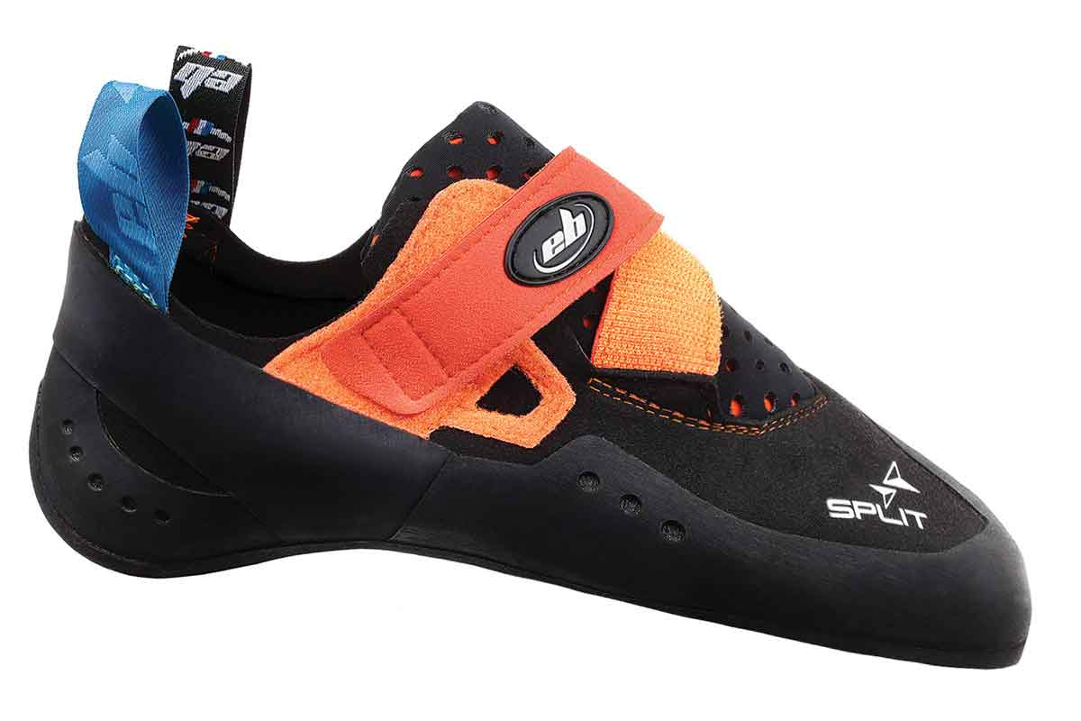 climbing shoes split