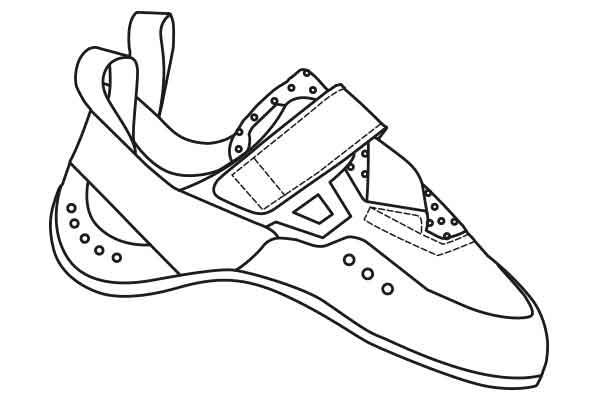 split eb french climbing shoes