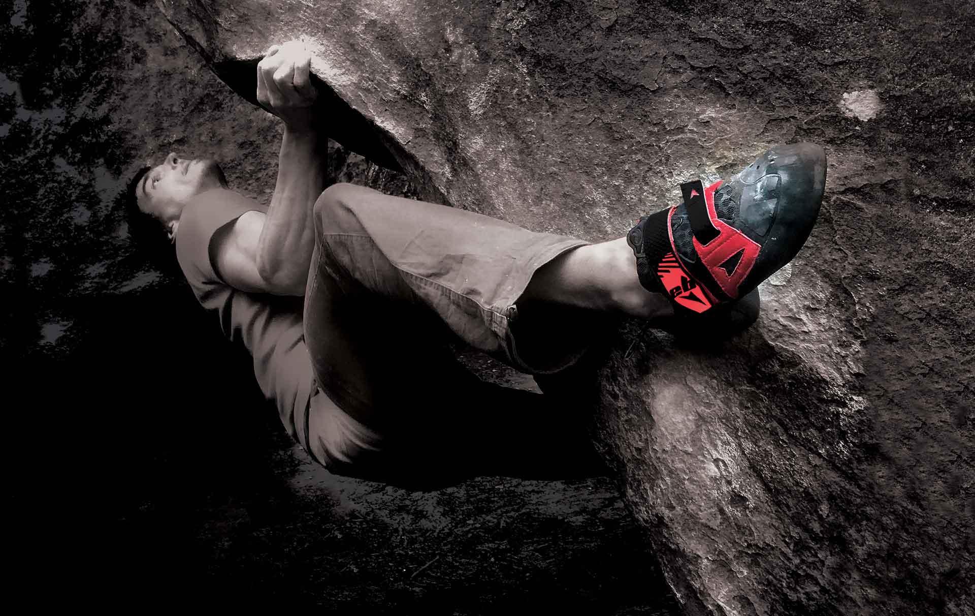 climbing shoe red
